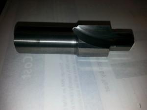 Custom EC121 carbide 2 flute straight custom step drill, no coating