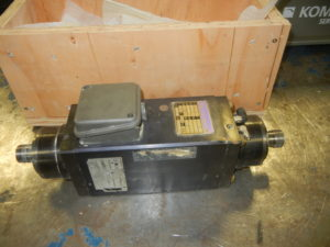 Colombo RCE 90.2 spindle router motor s/n 1001381, 7.5 HP, 18000rpm, 380v, 300 Hz